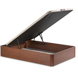 canape de madera curvo abierto